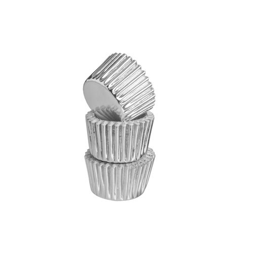Mason Cash Mini Baking Cases - Pack of 40 Silver