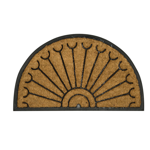 Tuffridge Half Moon Coir and Rubber Doormat - 75 x 45cm