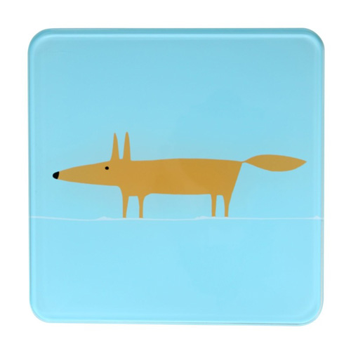 Dexam Scion Living Hot Pot Stand Blue Mr Fox - 20 x 20cm