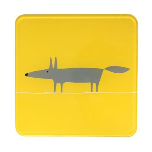 Dexam Scion Living Hot Pot Stand Yellow Mr Fox - 20 x 20cm