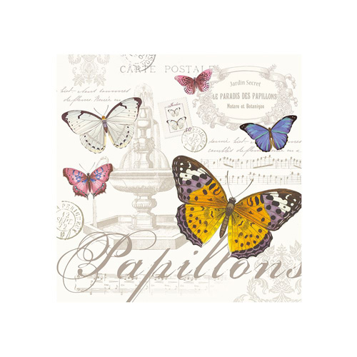 Stow Green Paper Napkins - Butterfly - Pack of 20 x 3 ply