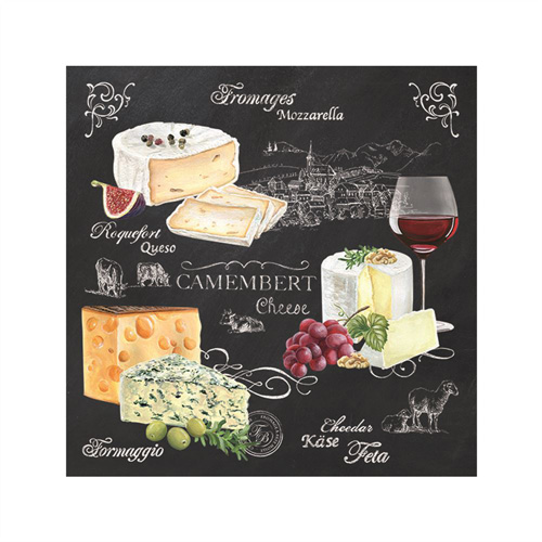Stow Green Paper Napkins - World of Cheese - Pack of 20 x 3 ply