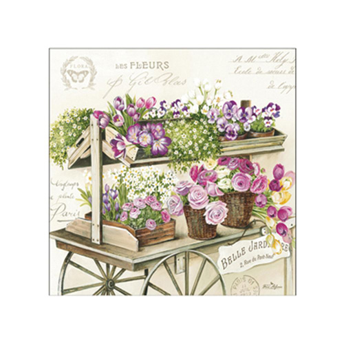 Stow Green Paper Napkins - Les Fleurs - Pack of 20 x 3 ply