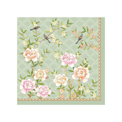 Stow Green Paper Napkins - Palace Garden - Pack of 20 x 3 ply