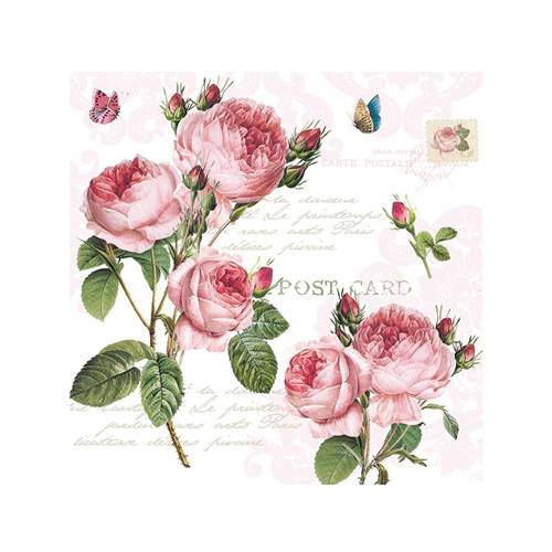 Stow Green Paper Napkins - Romantic Roses - Pack of 20 x 3 ply