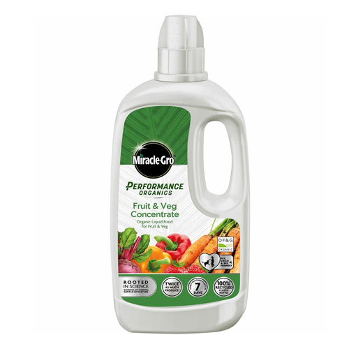 Miracle-Gro Fruit and Veg Organics Soluble Plant Food Concentrate 1L