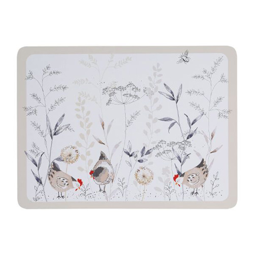 Price and Kensington Placemats - Pack of 4 - Country Hens