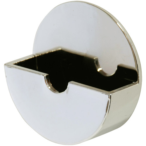 Self Adhesive Plug Tidy - 10 Chrome Coloured Plug Holders