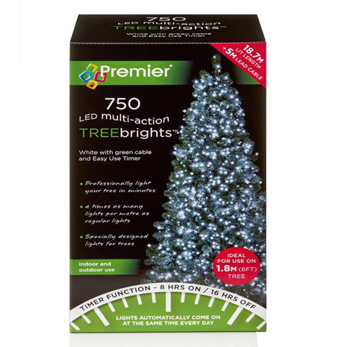 Premier 750 LED Multi Action Tree Bright Lights for 6' Tree W Timer