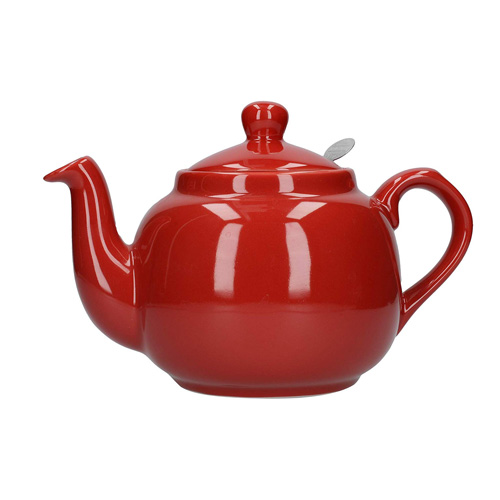 London Pottery 4 Cup Farmhouse Teapot with Filter - Red