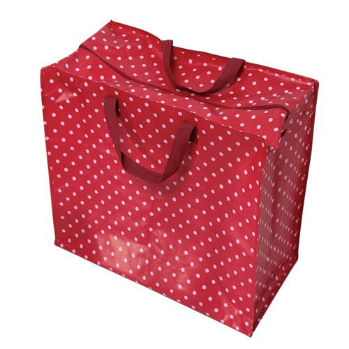 Rex International Big Laundry Storage Bag - Red and White Spots
