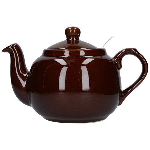 London Pottery 6 Cup Farmhouse Filter Teapot - Rockingham Brown