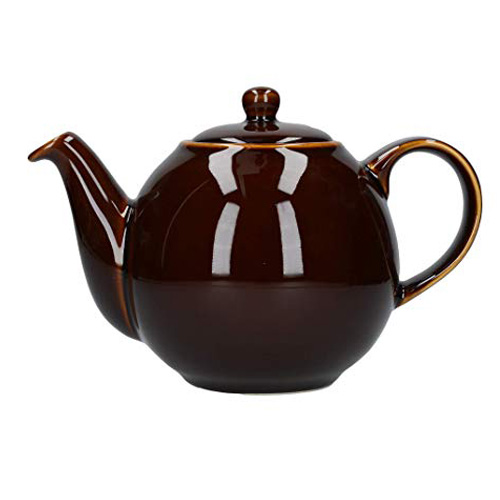London Pottery 4 Cup Globe Teapot - Rockingham Brown