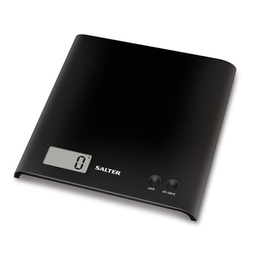 Salter Arc Electronic Kitchen Scale Black 1066