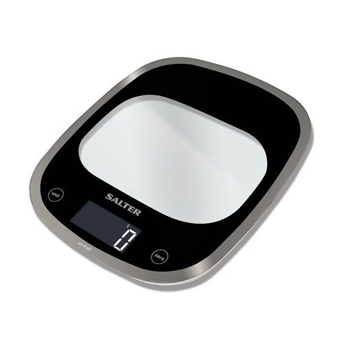 Salter Curve Glass Kitchen Scale 1050 Black