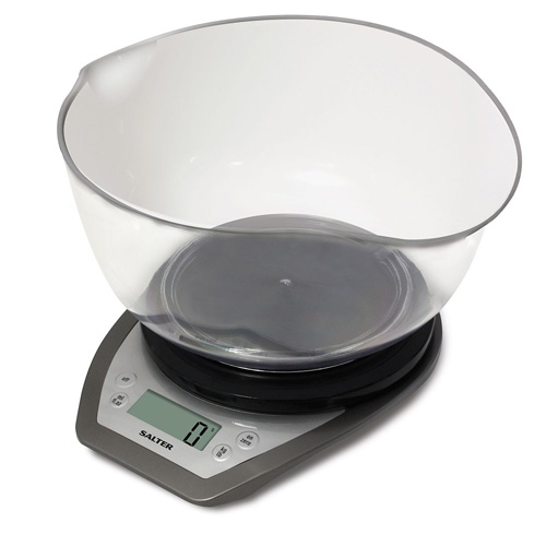 Salter Dual Pour Electronic Kitchen Scale with Mixing Bowl
