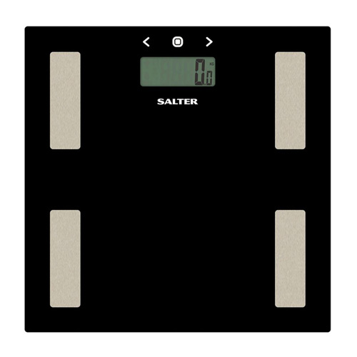 Salter Glass Analyser Personal Bathroom Scale - 9150 Black