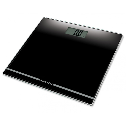 Salter Glass Personal Electronic Bathroom Scale - Black 9205