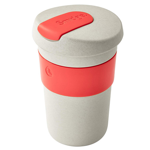 Smidge Coffee Cup 400ml - Natural Sand and Coral