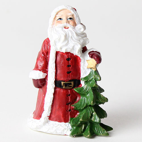 Christmas Cake Decoration - Santa With Tree Cake Topper