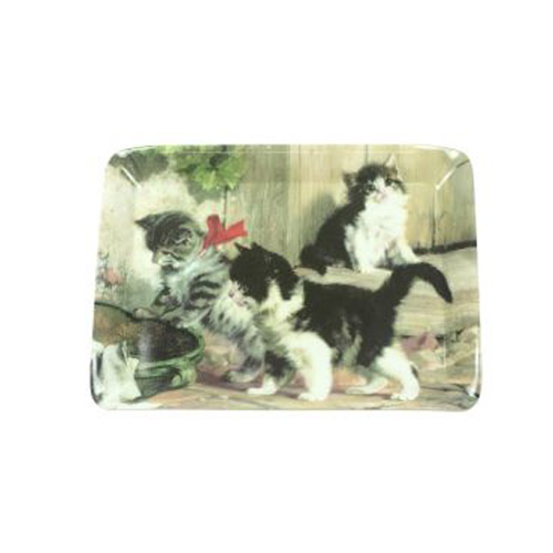 Stow Green Melamine Scatter Tray - Kitties Meeting