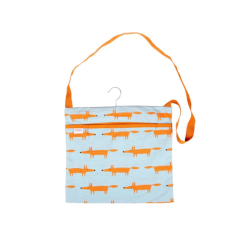Dexam Scion Wipe Clean Peg Bag - Mr Fox Blue