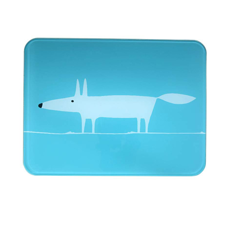 Dexam Scion Living Worktop Saver Teal Mr Fox - 40 x 30cm