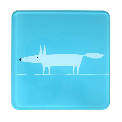 Dexam Scion Living Hot Pot Stand Teal Mr Fox - 20 x 20cm