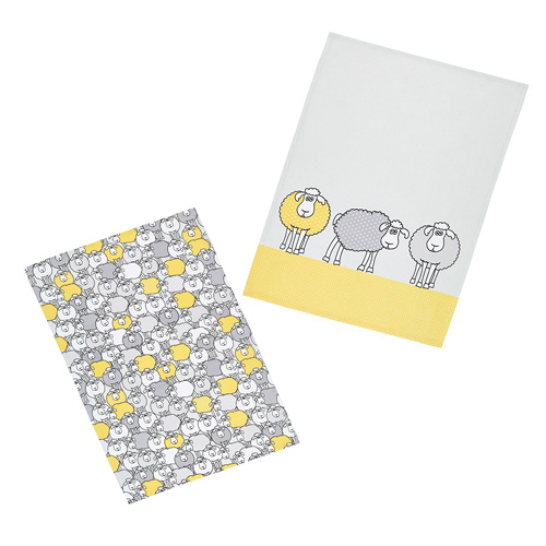 Kitchencraft Cotton Tea Towels - Pack of 2 Sheep