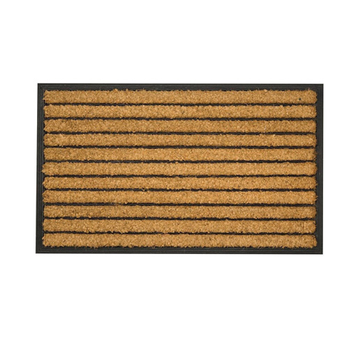 Sherpa Striped Sturdy Coir and Rubber Doormat - 60 x 40cm