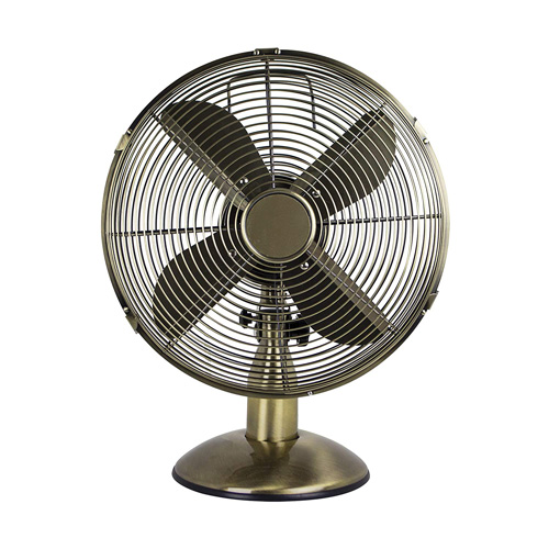 Status 12 inch Desk Fan, Antique