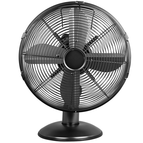 Status 12 inch Desk Fan, Satin Black