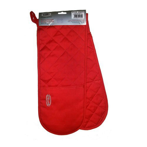 Stellar Double Oven Mitt - Thermal Resistant - STE05Red