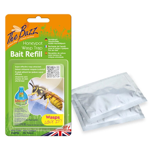 Buzz Honeypot Wasp Trap Refill - 3 x 4g sachets