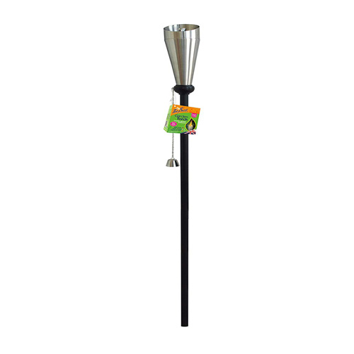 Buzz Garden Torch - 1.6m Brushed Steel Citronella Oil Burner