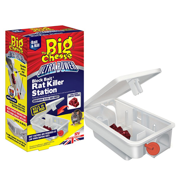 STV Big Cheese Block Bait Rat Killer Station - STV566