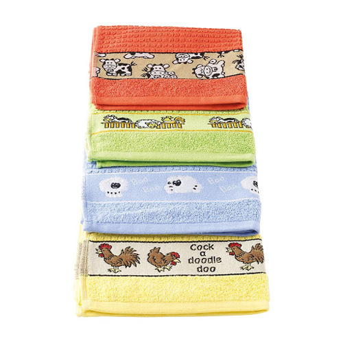Stow Green Single Kitchen Tea Towel - Assorted Colours Farm