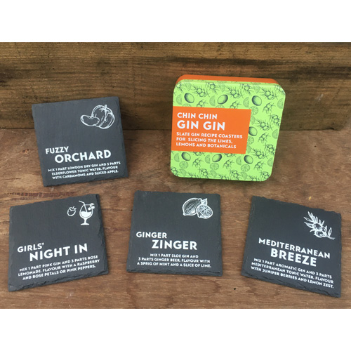 Apples to Pears Gift In A Tin - Chin Chin Gin Gin Coasters