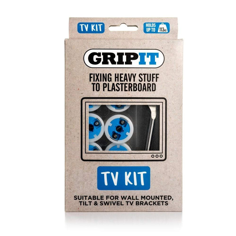 Gripit TV Bracket Plasterboard Fixing Kit - Pack of 4