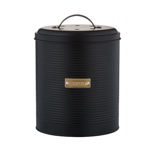 Typhoon Otto Compost Caddy - Matt Black with Gold