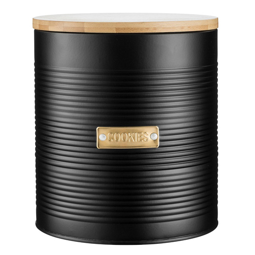 Typhoon Otto Cookie Tin - 2.6 litre Matt Black with Gold