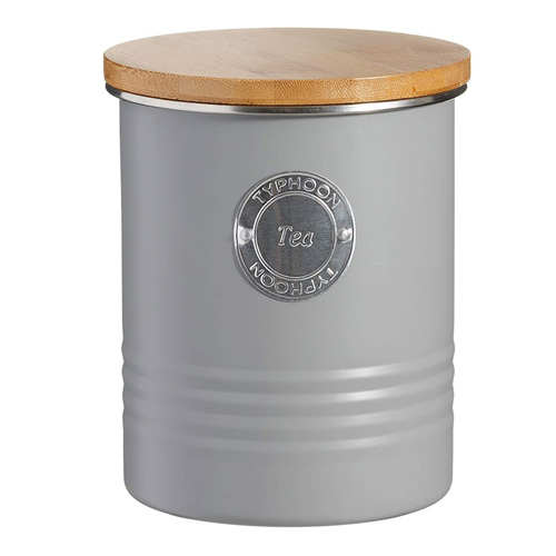 Typhoon Living Tea Canister - 1 litre Grey