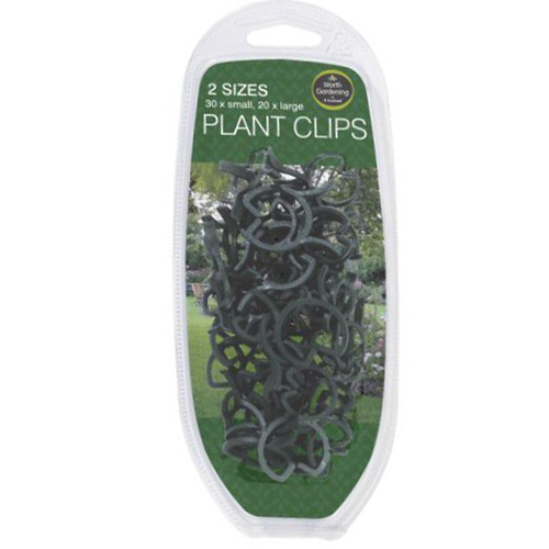 Worth Gardening Plant Clips - Pack of 50 - 2 sizes