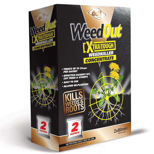 Doff WeedOut Extra Tough Weedkiller Concentrate - 2 x 80ml