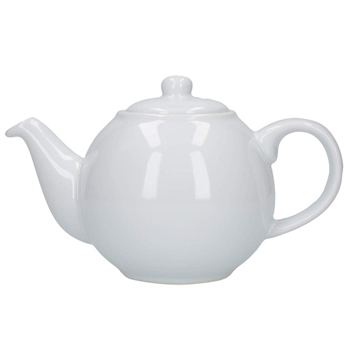 London Pottery 6 Cup Globe Teapot - White