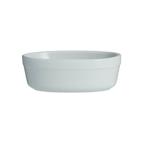 Mason Cash Oval Pie Dish 17cm - William Mason Collection - White