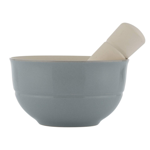 World Foods Pestle and Mortar - 14.5cm Dia Blue Stoneware