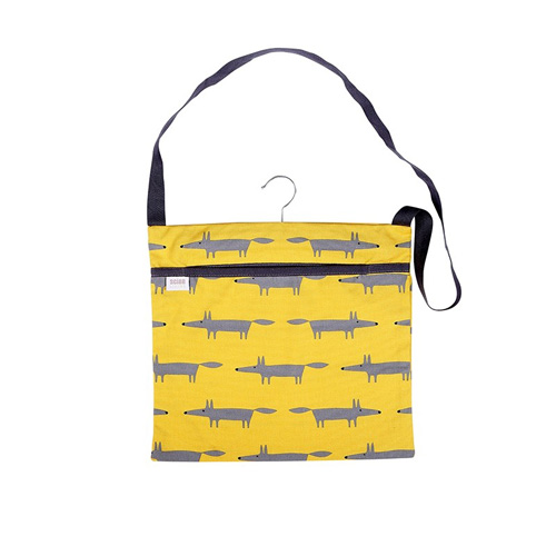 Dexam Scion Wipe Clean Peg Bag - Mr Fox Yellow