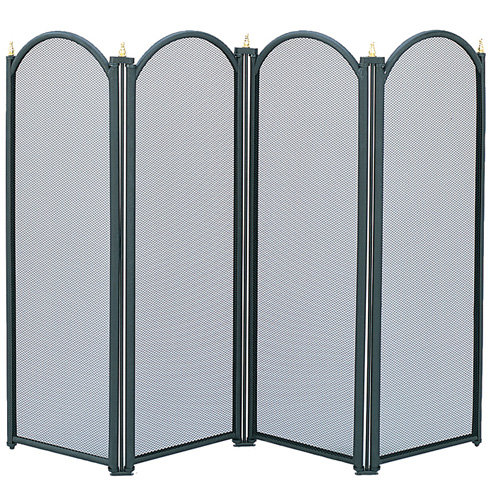 Manor Fireguard Dynasty Black 4 Fold Screen - 64cm