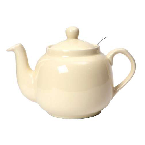 London Pottery 6 Cup Ivory Farmhouse Tea Pot Inc Filter